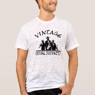 T-shirt Chemise vintage de burn-out de bande habituelle de