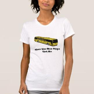 T-shirt Chemise-Womens d'arrêt d'autobus