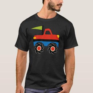 T-shirt Chemises bleues rouges de camion de monstre