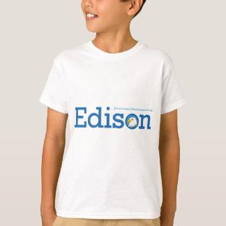 T-shirt Chemises de logo d'Edison d'enfants