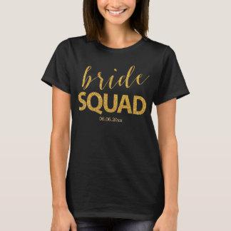 T-shirt Chemises de peloton de jeune mariée avec l'effet