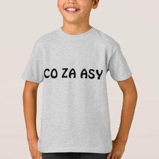 T-shirt Chemises de slogan d'Asy de Co Za