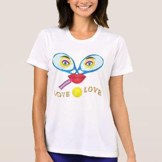 T-shirt Chemises drôles de tennis d'usage actif pour les
