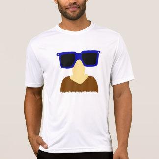 T-shirt Chemises incognito de moustache et en verre