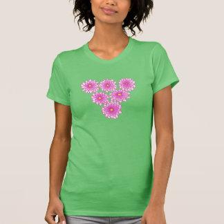 T-shirt Chemises roses de chrysanthèmes de fleurs de