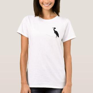 T-shirt Chemisette de base avec héron noir