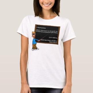 T-shirt Chemisette Femme Master Éducation Secondaire