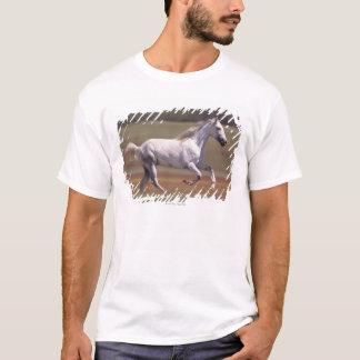 T-shirt Cheval blanc fonctionnant dans le domaine