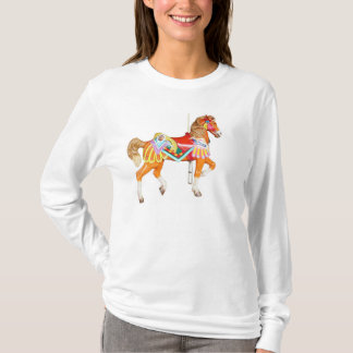 T-shirt Cheval brillamment peint de carrousel