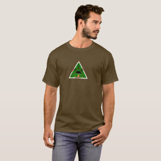 T-shirt Chevaliers du brun de logo de traînée