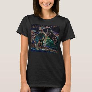 T-shirt Chevaux colorés au néon s'élevant jouant des