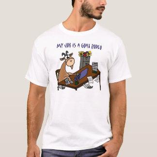 T-shirt Chèvre drôle à l'humour du travail de rodéo de