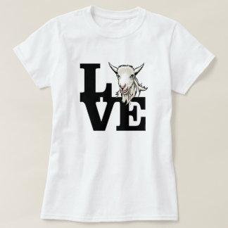 T-shirt CHÈVRE | rétro L O V E aucuns klaxons