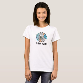 T-shirt Chic Artsy de mandala de New York