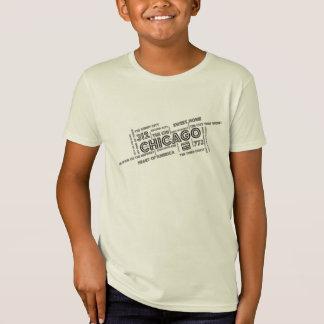 T-Shirt Chicago a incliné la vitesse de l'enfant de nuage