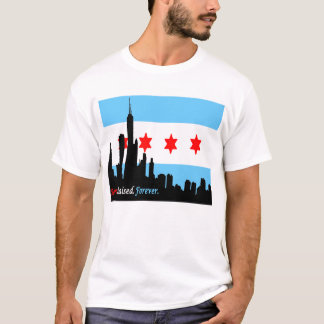 T-shirt Chicago : Horizon né et pour toujours augmenté