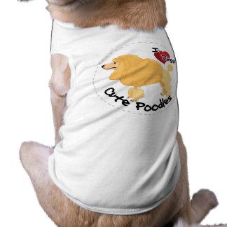 T-shirt Chien de caniche drôle et mignon adorable heureux