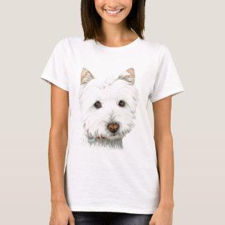T-shirt Chien en pastel de Westie