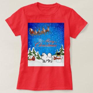 T-shirt Chien esquimau américain de Joyeux Noël