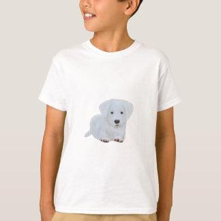 T-shirt Chien heureux de blanc de chiot de bébé mignon