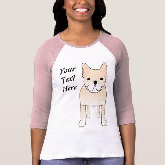 T-shirt Chien mignon. Bouledogue français crème pâle