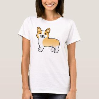 T-shirt Chien mignon de corgi de Gallois de Pembroke de
