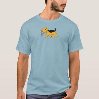 T-shirt Chien mignon de Kawaii Airedale Terrier avec le