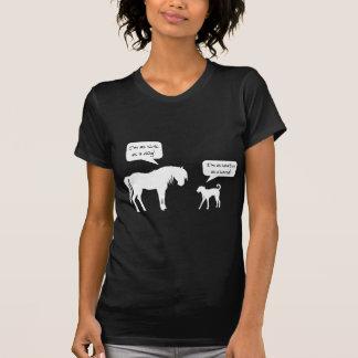 T-shirt Chien sain de cheval malade