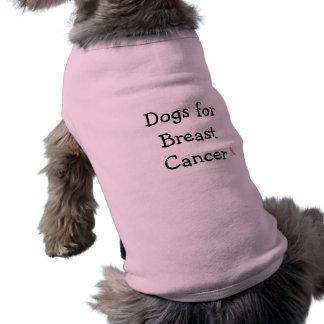 T-shirt Chiens soutenant le cancer du sein