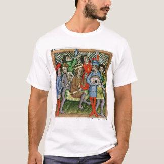 T-shirt Chiffre couronné posé entouré par des musiciens