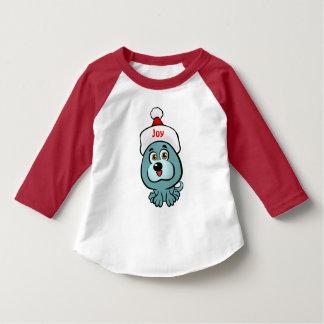 T-shirt Chiot de Noël avec le casquette de Père Noël