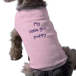 T-shirt chiot de petite fille de chemise de chien