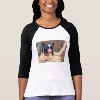 T-shirt Chiot pie de porc pour des amants de porc