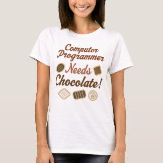 T-shirt Chocolat d'informaticien