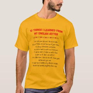 T-shirt Choses drôles I appris de mon poseur anglais