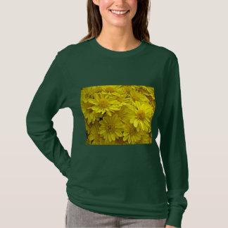 T-shirt Chrysanthèmes jaunes de soleil