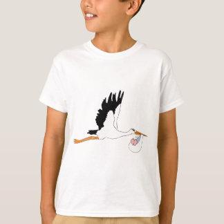 T-shirt Cigogne livrant le bébé