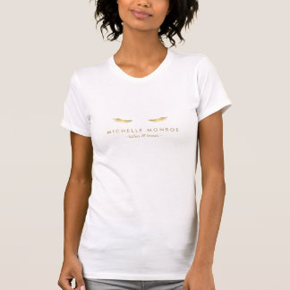 T-shirt Cils d'or