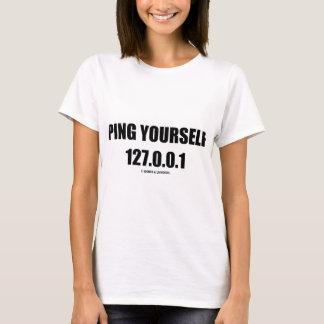 T-shirt Cinglement vous-même 127.0.0.1 (LUI/mise en réseau