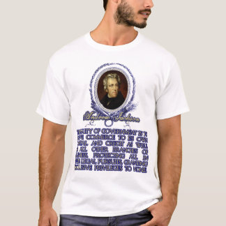 T-shirt Citation d'Andrew Jackson sur le devoir du