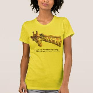 T-shirt Citation de perception d'aquarelle de girafe d'été