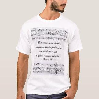 T-shirt Citation de Puccini en italien avec la notation