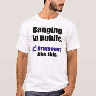 T-shirt Citation drôle de batteur : Frapper l'en public