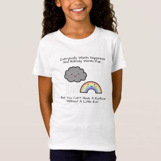 T-Shirt Citation mignonne de bonheur de nuage de pluie