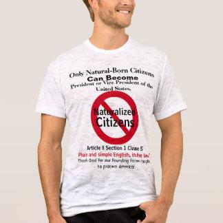 T-shirt Citoyens de naissance d'atout de vote pour le