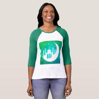 T-shirt Clair de lune 3/4 chemise de douille