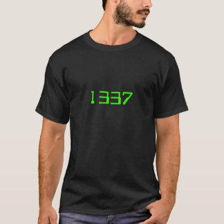T-shirt Classique 1337 - Vert sur le noir