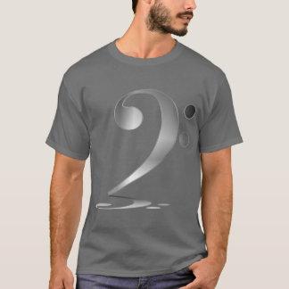 T-shirt Clef basse argentée ombragée