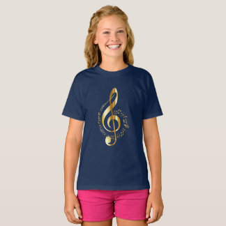 T-shirt Clef triple d'or