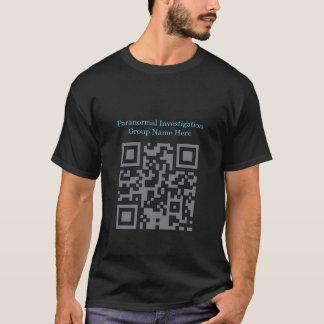T-shirt Code barres paranormal d'investigateur